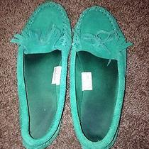 Mossimo Green Moccasins 7  Photo