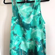 Mossimo Green Patterned Tank Photo