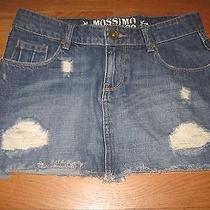 Mossimo Jean Skirt 7 Distressed Skirt  Photo