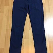 Mossimo Juniors Size 5 Navy Blue Khaki Chino Skinny Twill Pants 30x30 Photo