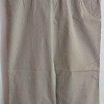 Mossimo Khaki Dress Pants Sz 8 Stretchy Wide Leg Nice Photo
