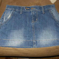 Mossimo Ladies Denim Mini Skirt Size 1 Photo