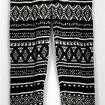 Mossimo Leggings Sz Xs Knit Elastic Waist Printed Slim Leg Black Womens Photo