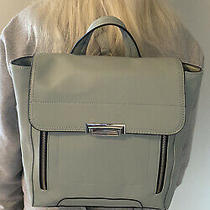 Mossimo M Light Blue Faux Leather Dressy Expandable Backpack Nwot Photo