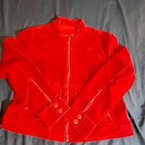 Mossimo Mauve Red 100% Cotton Corduroy Full Zip Bomber Jacket Size Xxl Photo