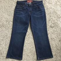 Mossimo Mossissue Womens Size 7 Dark Wash Cropped Capri Blue Jeans 24