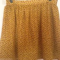 Mossimo Mustard Skirt Large. Hippie. 1970's Inspired. Cute Photo