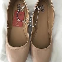 Mossimo Nude Blush Faux Leather Ballet Flats 8 8.5 Nwt Photo
