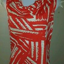 Mossimo Orange and Beige Top Size Small  Photo