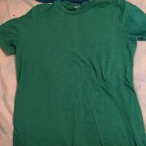 Mossimo Plain Green Adult Medium Medium Shirt Photo