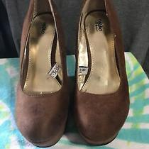 Mossimo Platform Wedges Brown Size 7.5 Woman Shoes Photo