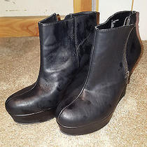Mossimo Platform Womens Zipper Booties Size 11 Black Photo