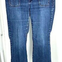Mossimo Premium Denim Women's Flared Blue Jeans. Size 14 Photo