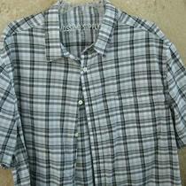 Mossimopreownedgray and White Plaid Button-Down Shor Sleeved Men's Shirtxxl Photo