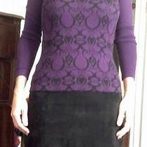 Mossimo Purple and Black Sweater Womens Small Photo
