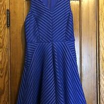 Mossimo Purple/blue Lined Lattice Mesh Swing Dress Size X Small Nwot Photo