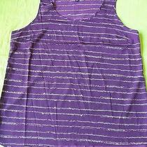 Mossimo Purple Large Sleeveless Stripe  Blouse Purple Grape Women Photo