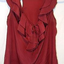 Mossimo Red Sleeveless Blouse Polyester Solid M Photo