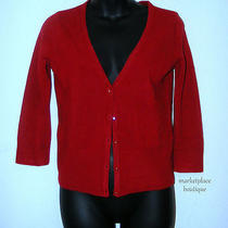 Mossimo Red Sparkle Buttons Cardigan Cardi Sweater Size S Photo