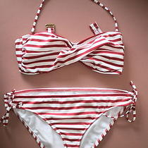 Mossimo Red/white Striped Bikini Photo