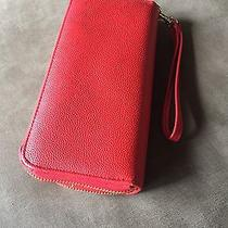 Mossimo Red Zip Wallet Photo