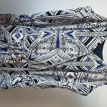 Mossimo Shorts Jumper Size Medium Tribal Print Geometric Print Blue Blush Blk Photo
