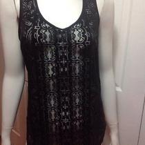 Mossimo Sleeveless Black Top Lace New Medium Free Shipping Photo