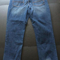 Mossimo Slim Straight Leg Fade Denim Blue Jeans 38x32 - Mens Photo