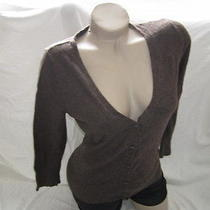 Mossimo Stretch Brown Cardigan Size Medium Free Shipping  Photo