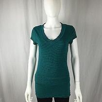 Mossimo Striped v-Neck Top Womens S Photo