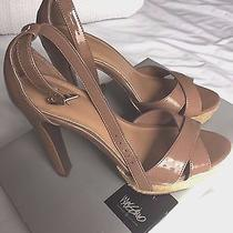 Mossimo Summer Shoes Strappy Sandals Size 7 Blush Beige Tan Platform Photo