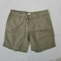 Mossimo Supply Co. 100% Cotton Olive Shorts Womens Size 11 Photo