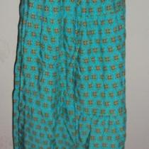 Mossimo Supply Co. Aqua Blue Geometric Print Tiered Long Skirt Plus 3 Photo