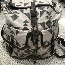 Mossimo Supply Co Aztec Hobo Hippie Backpack Drawstring Magnet School Euc Vegan Photo