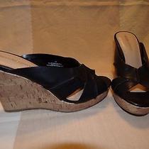 Mossimo Supply Co. Black Vegan Leather Mules/slides Size 7.5 M (Medium) Photo