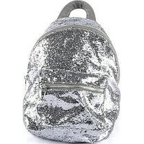 Mossimo Supply Co. Blue Grey Metallic Glitter Backpack Purse  Photo