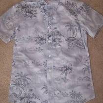 Mossimo Supply Co Button Tropical Print Athletic Fit Mens Size S Photo