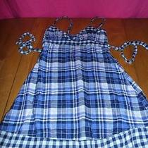 Mossimo Supply Co. Checked Plaid Babydoll Dress Sz S Photo