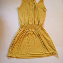 Mossimo Supply Co. Gold Yellow Stretch Dress M Medium Free Shipping Photo