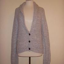 Mossimo Supply Co M Gray Acrylic Wool Blend Cardigan Sweater Photo