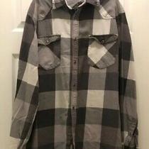 Mossimo Supply Co Mens Gray Plaid Flannel Shirt Size Xl/tg Photo