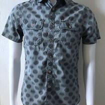 Mossimo Supply Co Mens Size Small Short Sleeve Button Front Shirt Athletic Fit  Photo