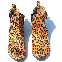 Mossimo Supply Co. Multicolored Suede-Like/fabric Animal Print Slip on Boots Photo
