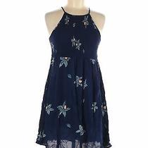 Mossimo Supply Co. Women Blue Casual Dress M Photo