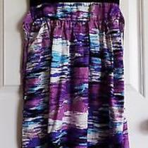 Mossimo Supply Co. Women's Black Knit Top W/ Multi-Color Skirt Sundress Size Xs Photo