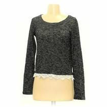 Mossimo Supply Co. Women's Sweater Size S  Black Grey White  Rayon Photo