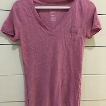 Mossimo Supply Co Women Sz Xs Boyfriend Tee Heathered Pocket v-Neck T-Shirt Top Photo