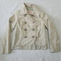 Mossimo Supply Co. Womens Beige Military Style Jacket Size M New Photo