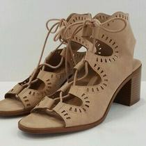 Mossimo Supply Co Womens Size 9.5 Tan Gladiator Cut Out Lace Up Sandals Shoes Photo