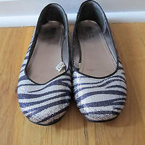 Mossimo Supply Company Silver & Blue Sequin Animal Print Flats Size 7 Photo